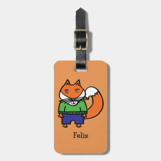 Etiqueta De Bagagem Felix personalizado o Fox