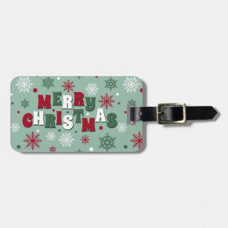 Etiqueta De Bagagem Feliz Natal