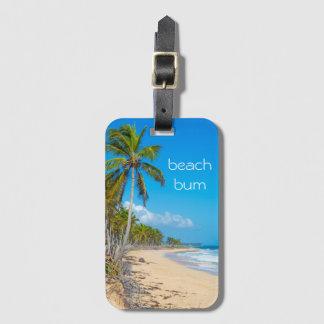 Etiqueta De Bagagem Férias do vagabundo da praia