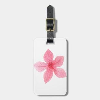 Etiqueta De Bagagem festa de solteira cor-de-rosa da aguarela da flor