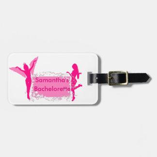 Etiqueta De Bagagem Festa de solteira feminino cor-de-rosa