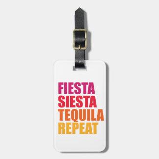 Etiqueta De Bagagem Festa, Siesta, férias de Bachelorette do Tequila