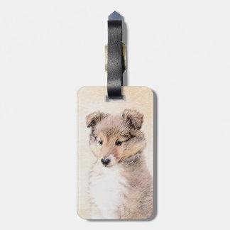 Etiqueta De Bagagem Filhote de cachorro do Sheepdog de Shetland que