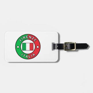 Etiqueta De Bagagem Firenze Italia