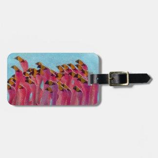 Etiqueta De Bagagem Flamingo