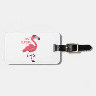 Etiqueta De Bagagem Flamingo louco