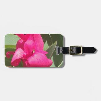 Etiqueta De Bagagem Flor cor-de-rosa