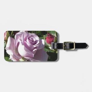 Etiqueta De Bagagem Flor cor-de-rosa da única violeta com rosas