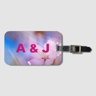 Etiqueta De Bagagem Flor de cerejeira cor-de-rosa