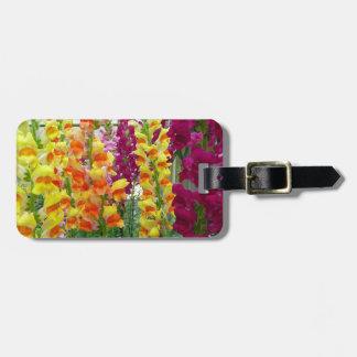Etiqueta De Bagagem Floral colorido de Snapdragons