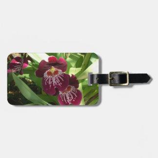 Etiqueta De Bagagem Floral elegante das orquídeas II marrom