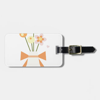 Etiqueta De Bagagem flores