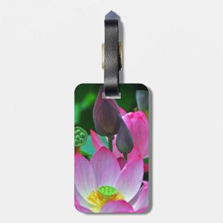Etiqueta De Bagagem Flores cor-de-rosa de Lotus