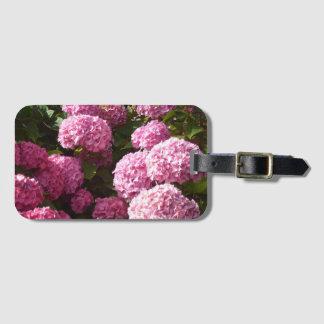 Etiqueta De Bagagem Flores cor-de-rosa do Hydrangea