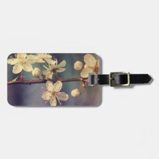 Etiqueta De Bagagem Flores da árvore de cereja