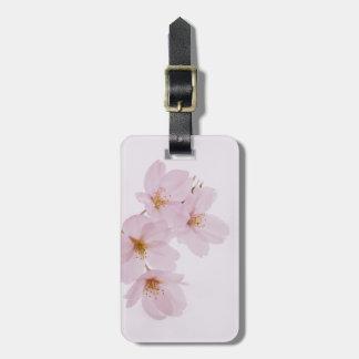 Etiqueta De Bagagem Flores de cerejeira bonitas do primavera em Tokyo