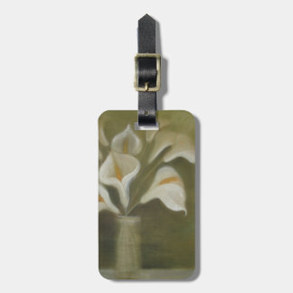 Etiqueta De Bagagem Flores de corte do Calla em um vaso