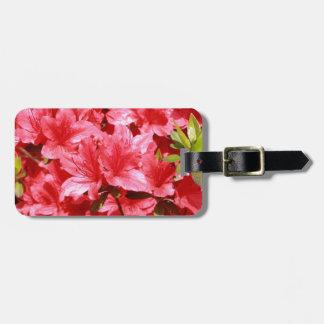 Etiqueta De Bagagem flores do vermelho da azálea