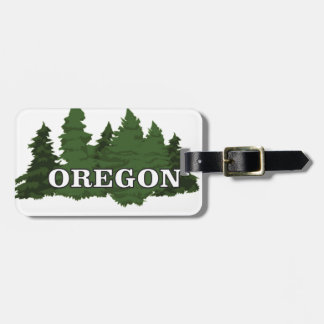 Etiqueta De Bagagem Floresta de Oregon