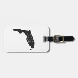 Etiqueta De Bagagem Florida eu gosto d indico aqui o preto da silhueta