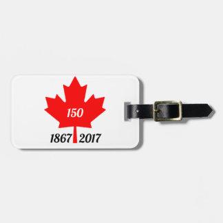 Etiqueta De Bagagem Folha de bordo de Canadá 150 em 2017