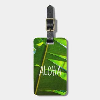 Etiqueta De Bagagem Folhas da banana, jardim de McBryde, Kauai,