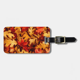 Etiqueta De Bagagem Folhas de outono - cor da queda