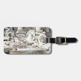 166778fae4a Etiqueta De Bagagem Fonte Triton do Trevi e cavalo em Roma