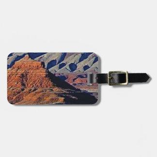 Etiqueta De Bagagem formas naturais do deserto