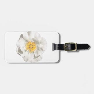 Etiqueta De Bagagem Foto da flor branca