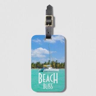 Etiqueta De Bagagem Fuga da felicidade da praia
