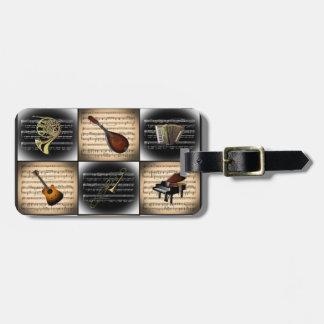 Etiqueta De Bagagem Fundo da partitura do ~ de 15 instrumentos