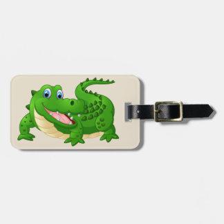 Etiqueta De Bagagem Fundo do crocodilo dos desenhos animados