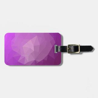 Etiqueta De Bagagem Fundo do polígono do abstrato da violeta da