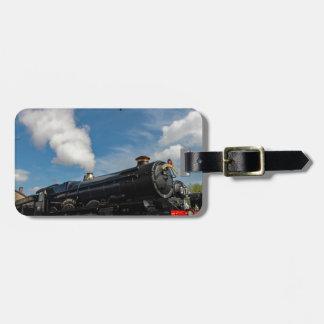 Etiqueta De Bagagem Furacões e trem do vapor