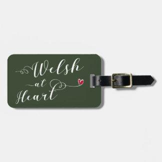 Etiqueta De Bagagem Galês no modelo do Tag da bagagem do coração,