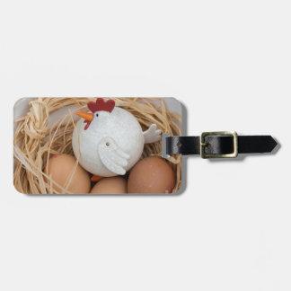 Etiqueta De Bagagem Galinha & ovos