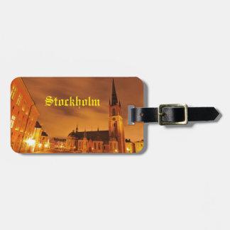 Etiqueta De Bagagem Gamla Stan em Éstocolmo, suecia