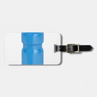 Etiqueta De Bagagem Garrafa plástica azul