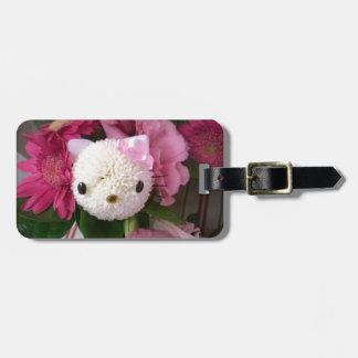 Etiqueta De Bagagem Gatinho da flor