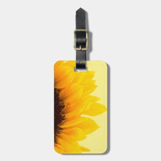 Etiqueta De Bagagem Girassol amarelo do viagem no amarelo
