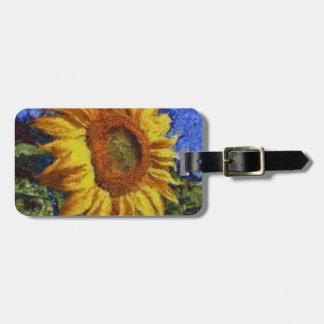 Etiqueta De Bagagem Girassol no estilo de Van Gogh
