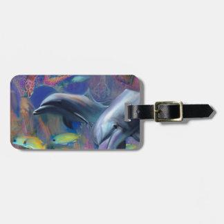 Etiqueta De Bagagem Golfinhos Enchanted
