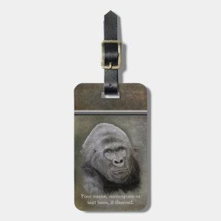 Etiqueta De Bagagem Gorila do Silverback, personalizado