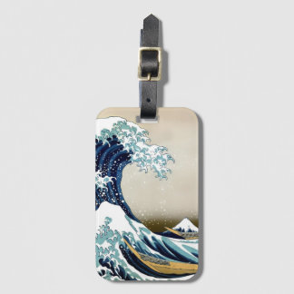 Etiqueta De Bagagem Grande onda de alta qualidade fora de Kanagawa por