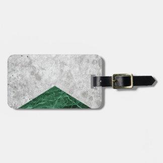 Etiqueta De Bagagem Granito concreto #412 do verde da seta