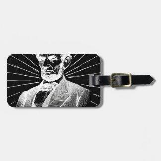 Etiqueta De Bagagem grunge Abraham Lincoln