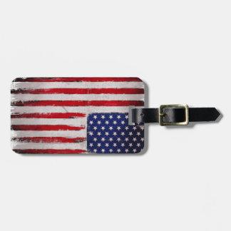 Etiqueta De Bagagem Grunge da bandeira dos EUA