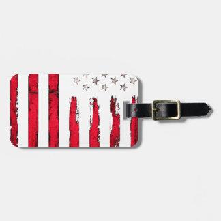 Etiqueta De Bagagem Grunge vermelho novo da bandeira americana