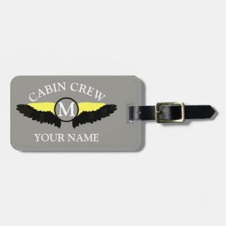 Etiqueta De Bagagem Grupo da cabine do avião